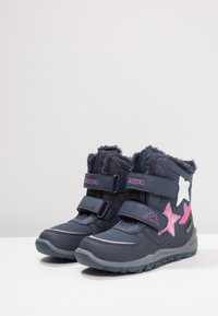Kappa - GLITZY TEX - Stivali da neve  - navy/pink - 2