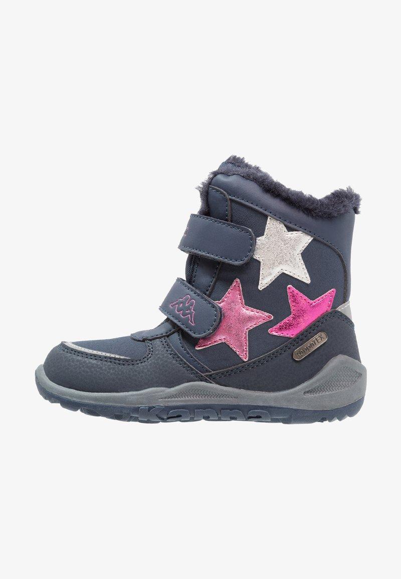 Kappa - GLITZY TEX - Stivali da neve  - navy/pink
