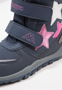 Kappa - GLITZY TEX - Stivali da neve  - navy/pink - 5