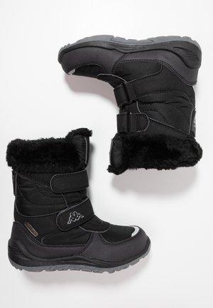 GURLI TEX  - Stivali da neve  - black/silver