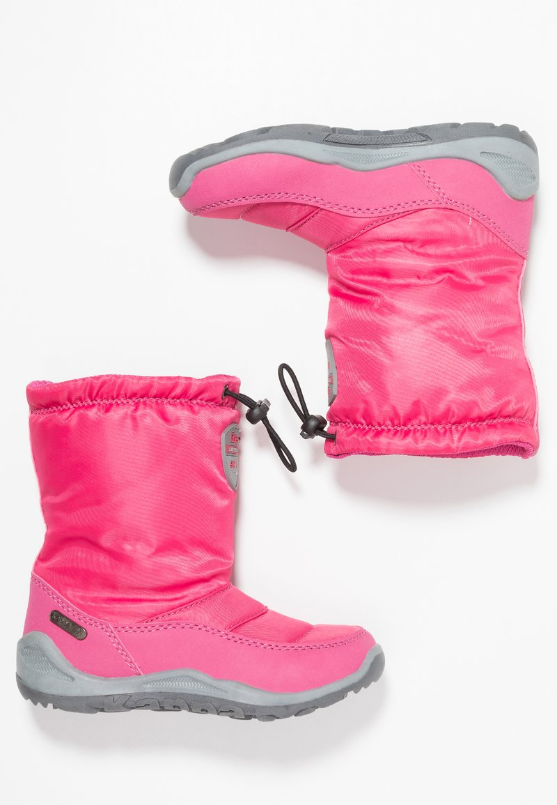 Kappa - WEAM TEX - Stivali da neve  - pink/grey
