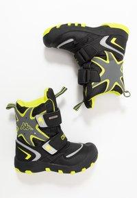 Kappa - KAPOW HIGH TEX - Zimní obuv - black/lime - 1