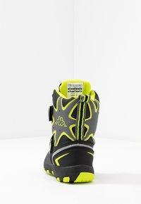 Kappa - KAPOW HIGH TEX - Zimní obuv - black/lime - 3