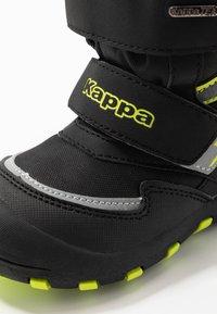Kappa - KAPOW HIGH TEX - Zimní obuv - black/lime - 5