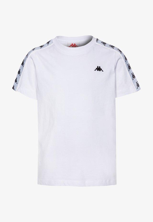 GRENNER - Camiseta estampada - bright white