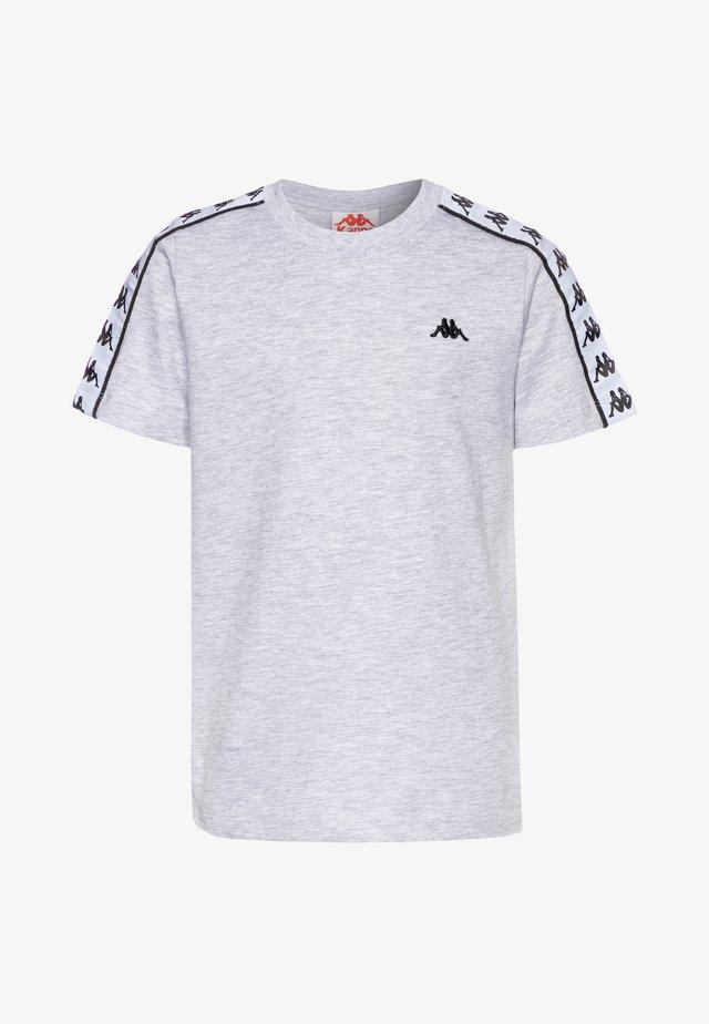 GRENNER - Print T-shirt - high-rise melange