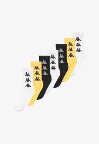 Kappa - VOULAR 7 PACK - Sportovní ponožky - black/ white/sulphur - 2