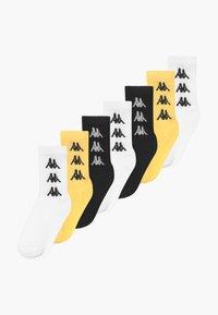 Kappa - VOULAR 7 PACK - Sportovní ponožky - black/ white/sulphur - 0