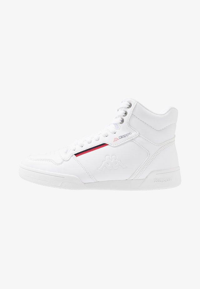 MANGAN - Sneakersy wysokie - white/red