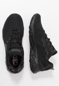 Kappa - STRATUS - Neutrální běžecké boty - black/grey - 1