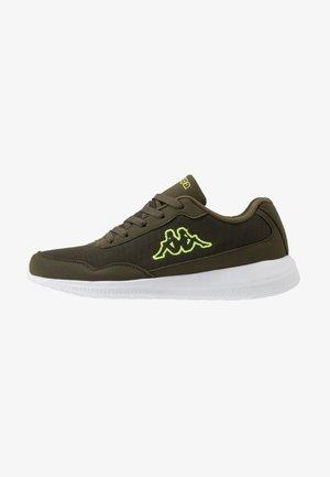 FOLLOW  - Sportovní boty - army/lime