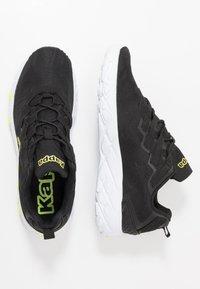 Kappa - STRATUS  - Zapatillas de running neutras - black/yellow - 1