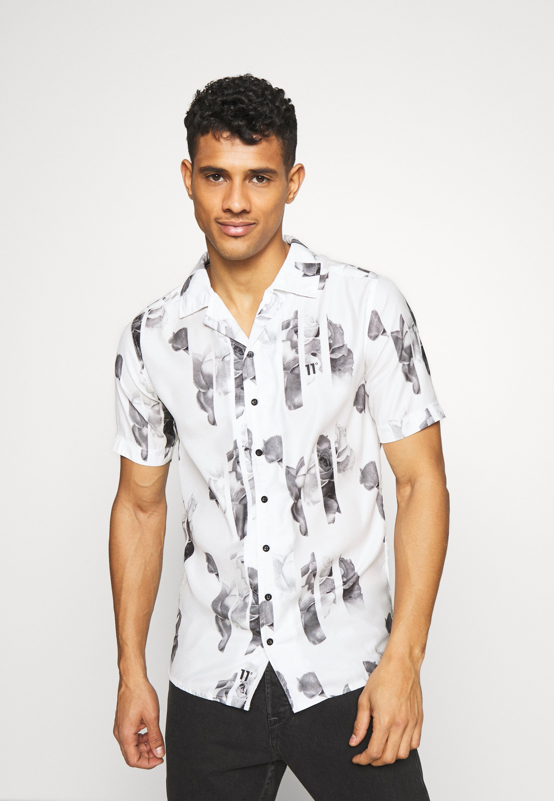 11 DEGREES SHORT SLEEVE RESORT SHIRT - Koszula - white/grey