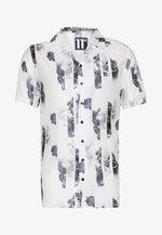 SHORT SLEEVE RESORT SHIRT - Hemd - white/grey