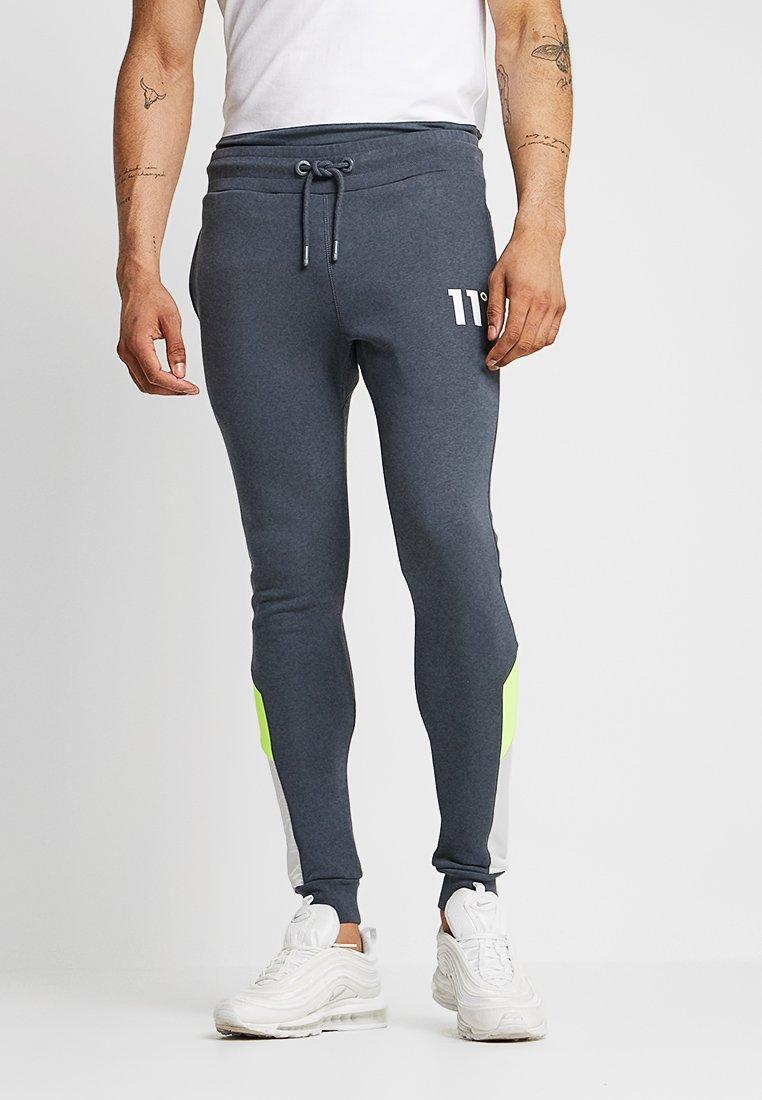 11 DEGREES - NEO - Pantalon de survêtement - anthracite/lime