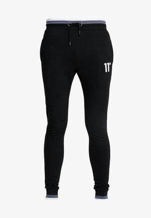 RIBBED SKINNY JOGGERS - Teplákové kalhoty - white/black