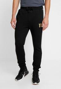 11 DEGREES - TAPED JOGGERS  - Pantalon de survêtement - light grey marl/black - 0