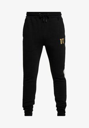TAPED JOGGERS  - Pantalones deportivos - light grey marl/black