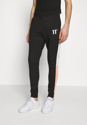 PANEL BLOCK TRACK PANTS - Tracksuit bottoms - peach melba/black/white