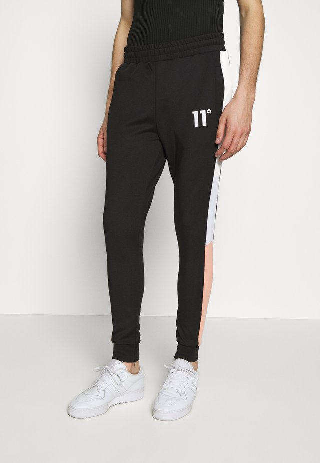 PANEL BLOCK TRACK PANTS - Pantaloni sportivi - peach melba/black/white