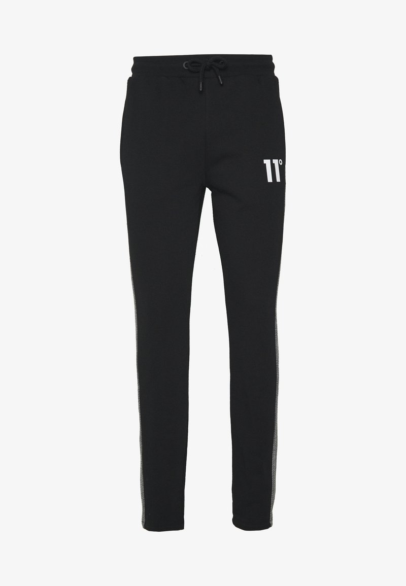 11 DEGREES - CUT AND SEW HERRINBONE SIDE PANEL  - Trainingsbroek - black