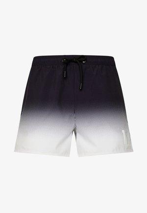 DOT FADE SWIM SHORTS - Shorts - black/white