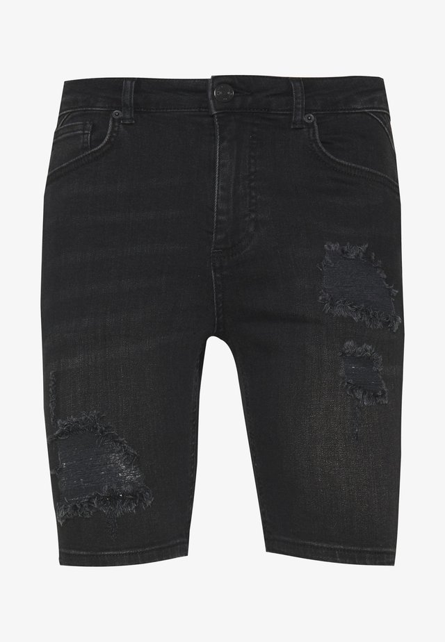 RIP AND REPAIR  - Shorts di jeans - washed black