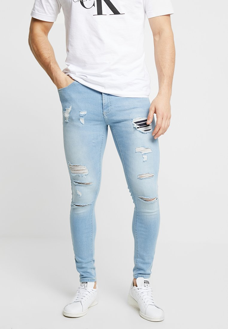 11 DEGREES - RIP AND REPAIR - Jeans Skinny Fit - stone blue