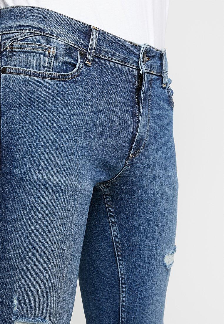 Essential Mid Super Stretch DistressedJeans Wash Degrees Skinny Blue 11 3ARqc4jL5