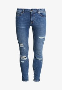 11 DEGREES - ESSENTIAL SUPER STRETCH DISTRESSED - Jeans Skinny Fit - mid blue wash - 6