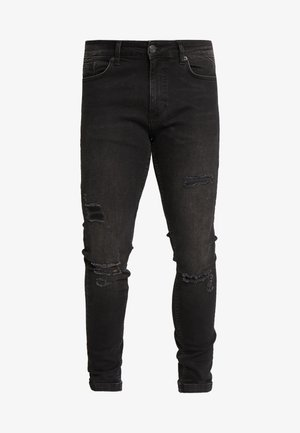 ESSENTIAL SUPER STRETCH DISTRESSED - Skinny džíny - washed black