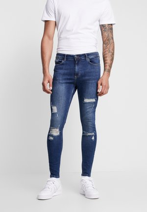 ESSENTIAL DISTRESSED - Jeans Skinny - mid blue wash