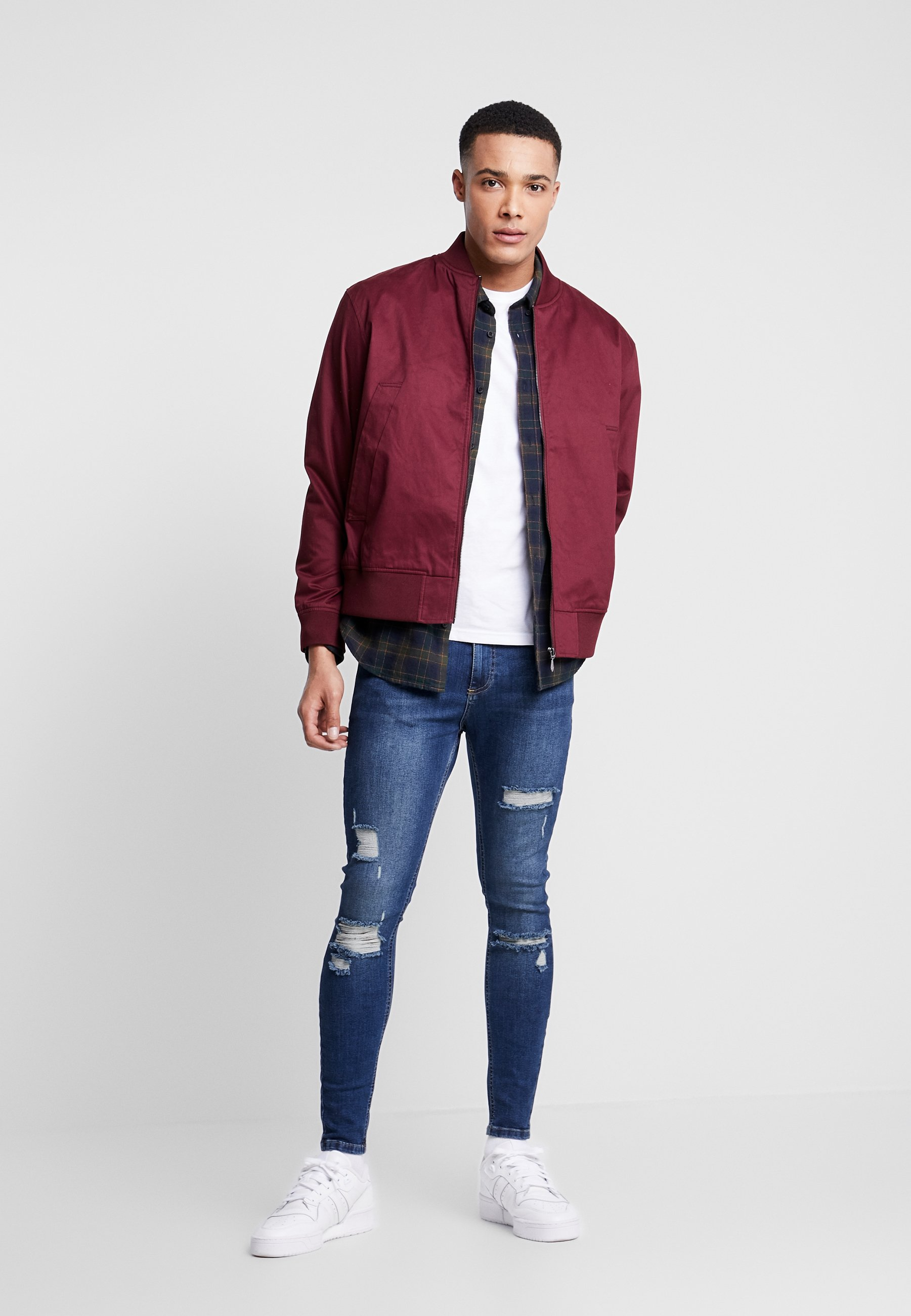 11 DEGREES ESSENTIAL DISTRESSED - Jeans Skinny Fit - mid blue wash