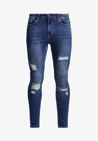 11 DEGREES - ESSENTIAL DISTRESSED - Jeans Skinny Fit - mid blue wash