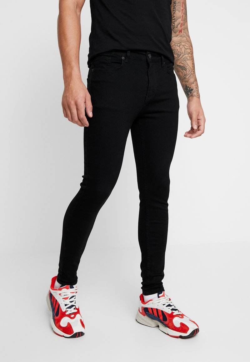 11 DEGREES - ESSENTIAL DISTRESSED - Jeans Skinny Fit - jet black