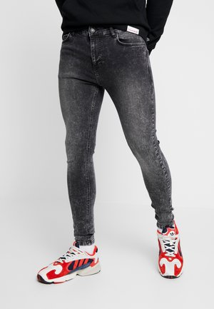 ESSENTIAL DISTRESSED - Vaqueros pitillo - charcoal wash