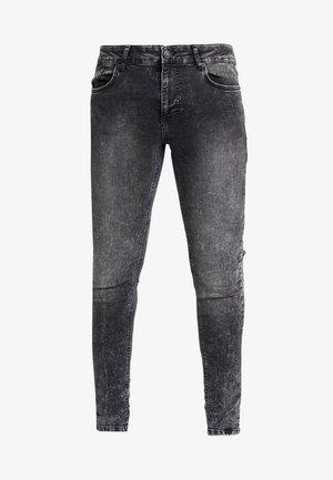 ESSENTIAL DISTRESSED - Skinny džíny - charcoal wash
