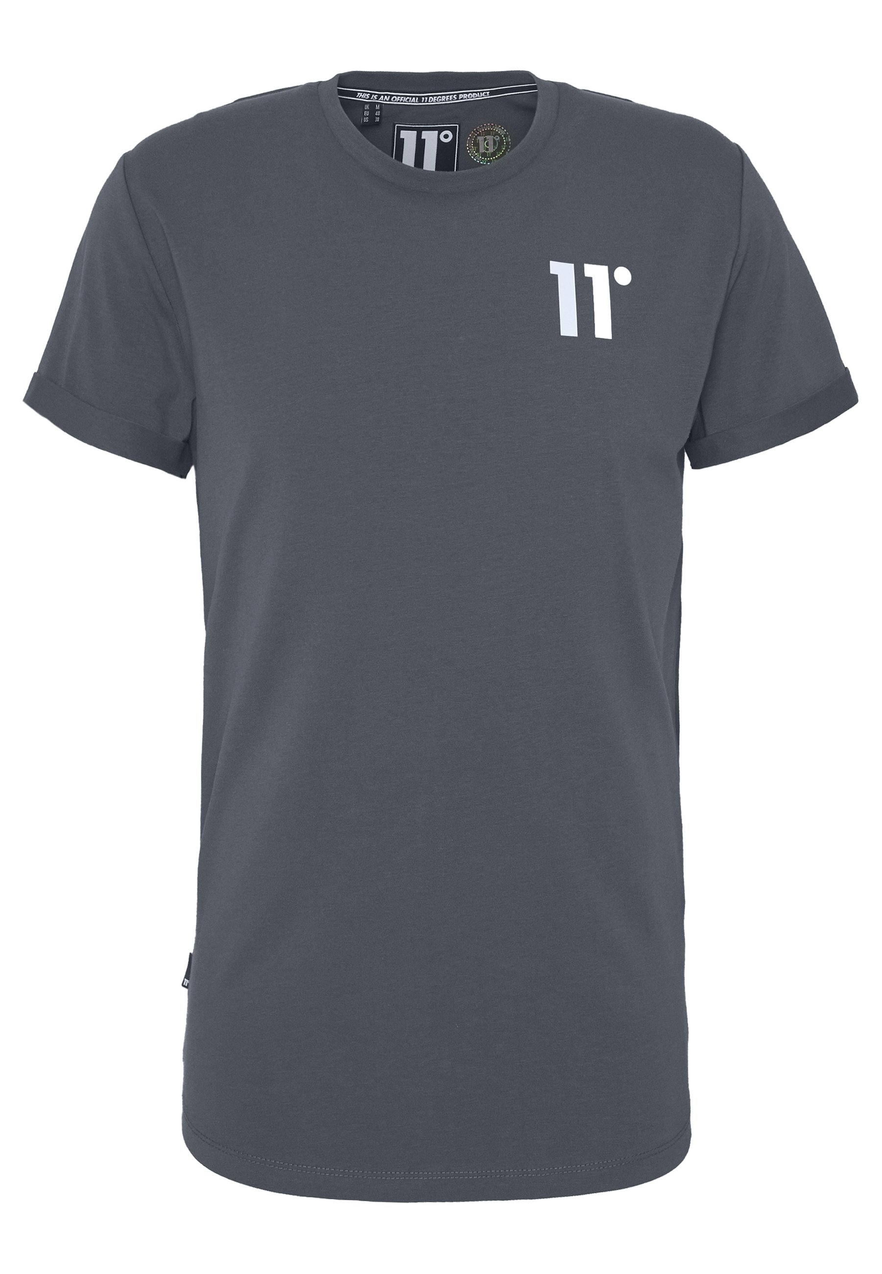 11 Degrees Core Muscle Fit - T-shirt Print Anthracite