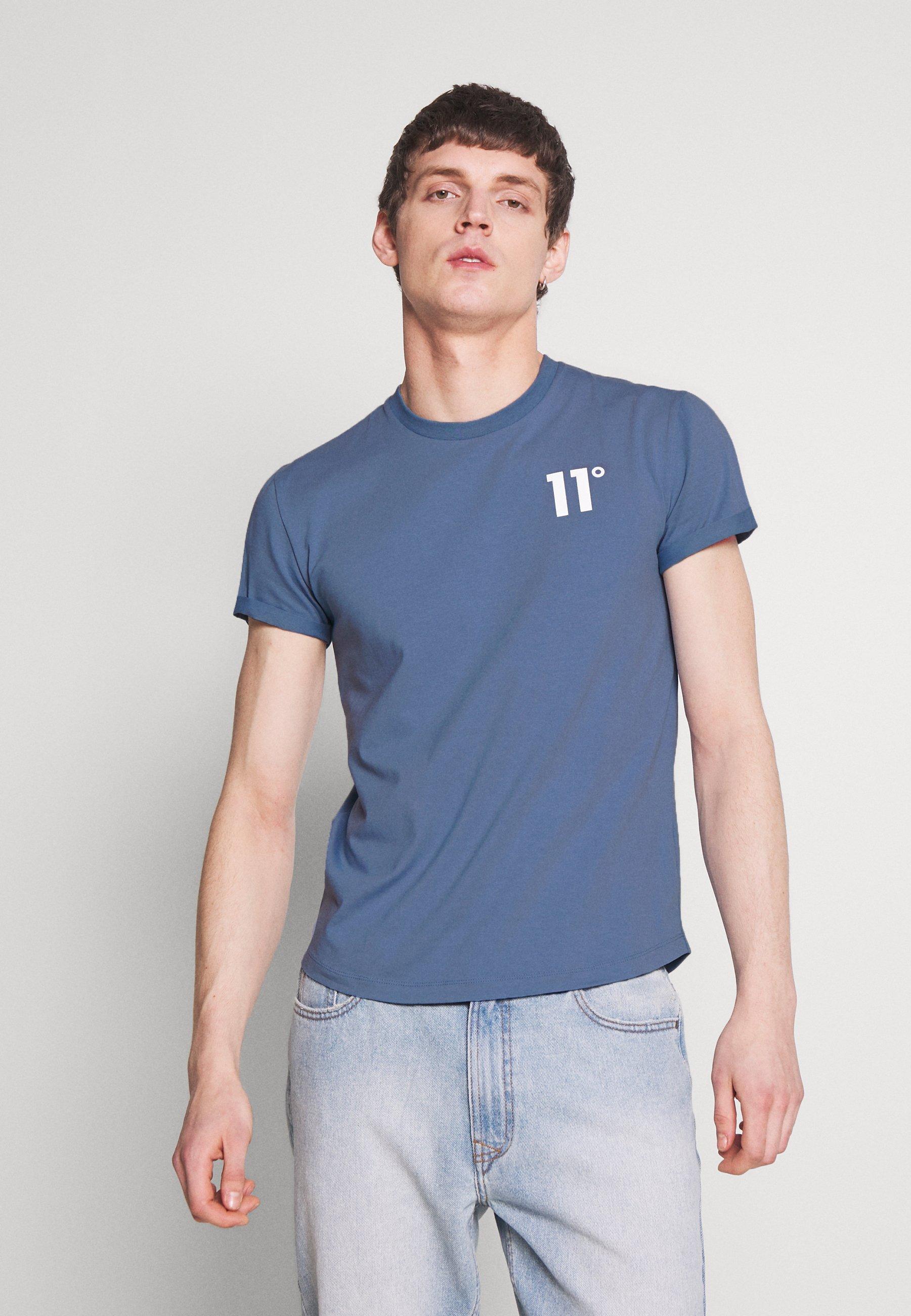 11 DEGREES CORE MUSCLE FIT - T-shirt z nadrukiem - country blue