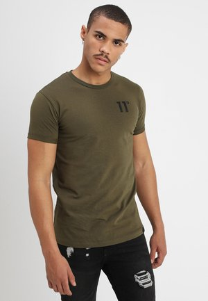 CORE MUSCLE FIT - Camiseta estampada - khaki