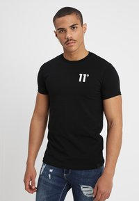 11 DEGREES - CORE MUSCLE FIT - T-shirts print - black - 0