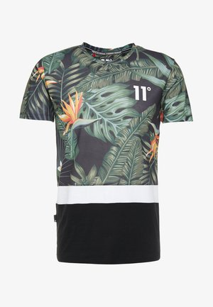 SUB - T-shirt med print - dark tropic