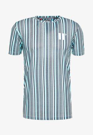VERTICAL COLOUR - T-shirt print - aqua/black/cream