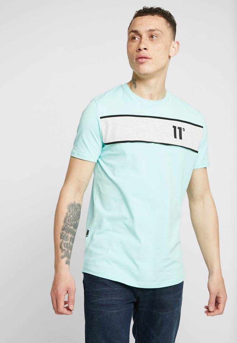 11 DEGREES - LEON - T-shirt med print - mint/tornado marl