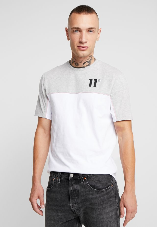 PIPING - Print T-shirt - white/light grey marl