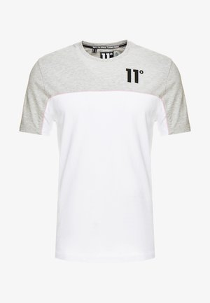 PIPING - T-shirt imprimé - white/light grey marl