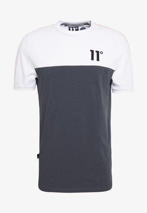 PANEL BLOCK - T-shirt print - anthracite/white/powder pink