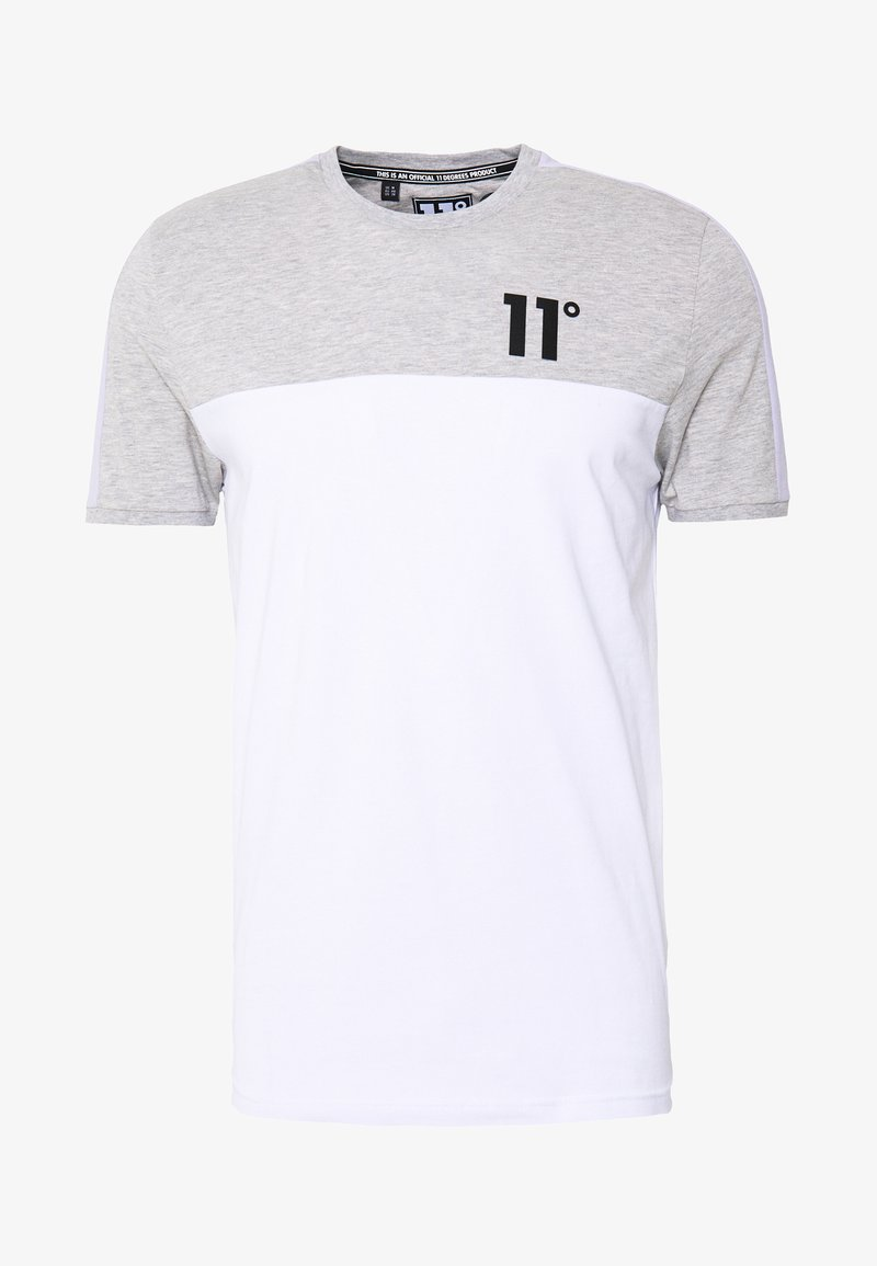 11 DEGREES PANEL BLOCK - T-shirts med print - white, light grey marl & evening haze lilac