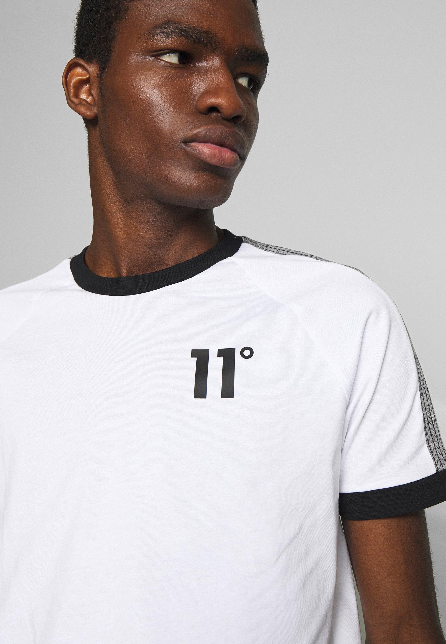 11 Degrees Raglan Regular Fit - T-shirt Med Print White/black