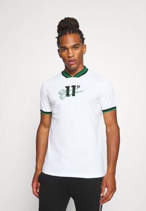 BASEBALL COLLAR - T-shirt print - white